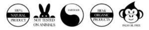 Símbolos de cosmética natural: sin químicos, cruelty-free, etc...