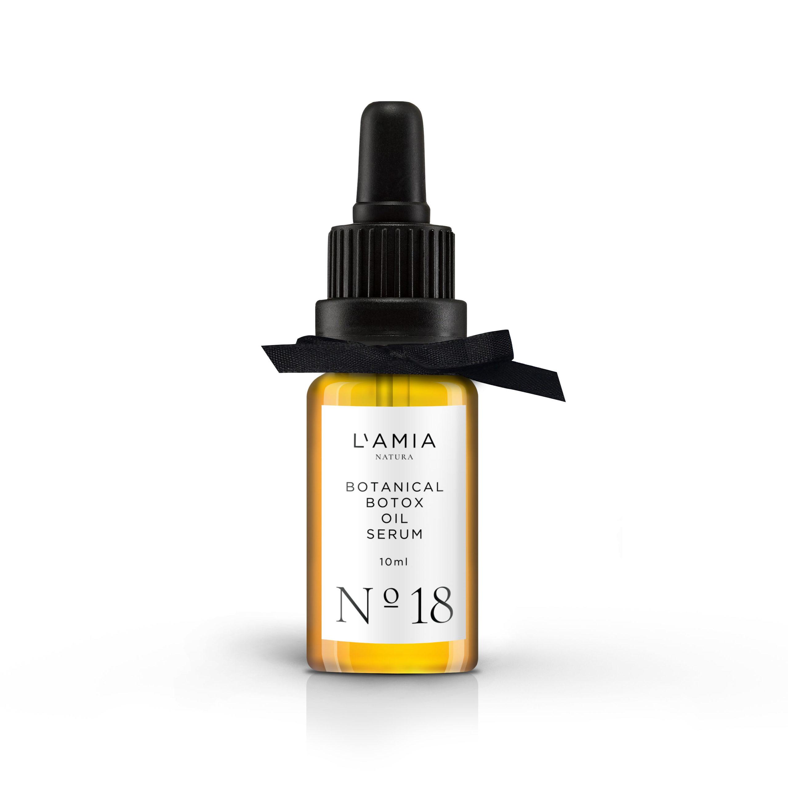 frasco de botox vegetal natural a base de plantas para piel seca o normal de 10 mililitros
